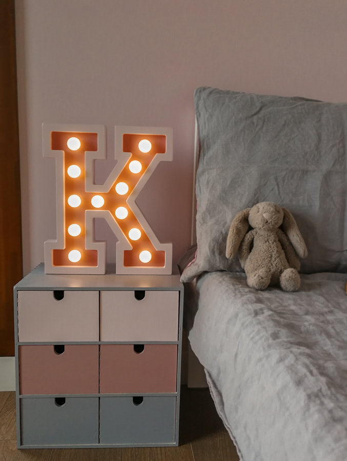 Light Letters in 2 colors